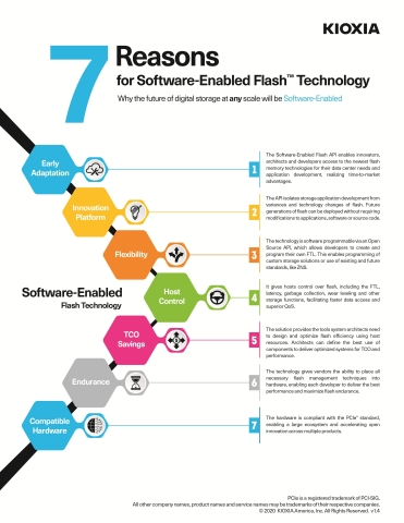 7 Reasons for Software-Enabled Flash Technology (Graphic: Business Wire)