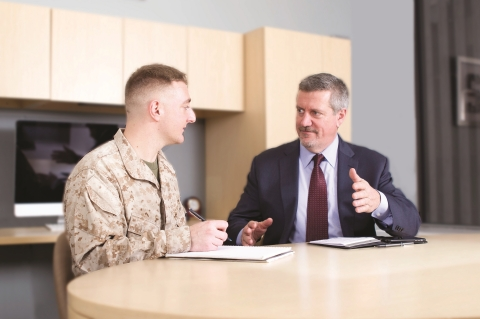 As part of Aramark's longstanding commitment to hiring our Nation's service members, the Company today announced a partnership with the veterans' national nonprofit organization, American Corporate Partners (ACP), to further bolster military veteran recruitment and help returning veterans find their next careers. (Photo: Business Wire)