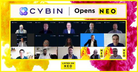 Cybin Inc., une biotech des sciences du vivant basée à Toronto et spécialisée dans les thérapies pharmaceutiques psychédéliques, sonne la cloche à l'occasion de son lancement sur les marchés boursiers internationaux. Cybin est désormais coté sur NEO Bourse, sous le mnémo NEO:CYBN. (Photo: Business Wire)