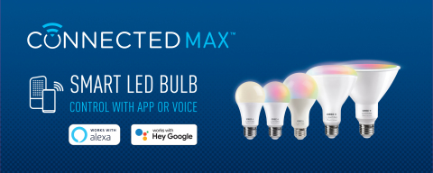 Cree Lighting today introduced Connected Max Smart LED Bulbs, a new portfolio of best-in-class smart lighting designed to elevate and simplify smart home experiences for consumers. (Graphic: Business Wire)