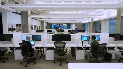 Companies such as Lionsgate have been using Desks since early September when Envoy offered an early version to select customers as a way of iterating and learning about COVID-specific challenges. (Graphic: Business Wire)