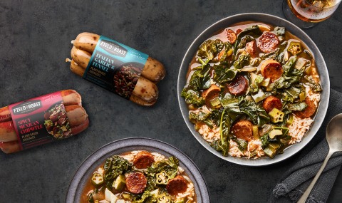 For the first time since 1997, Field Roast is debuting a whole new look, including a redrawn logo and reimagined packaging. (Photo: Business Wire)