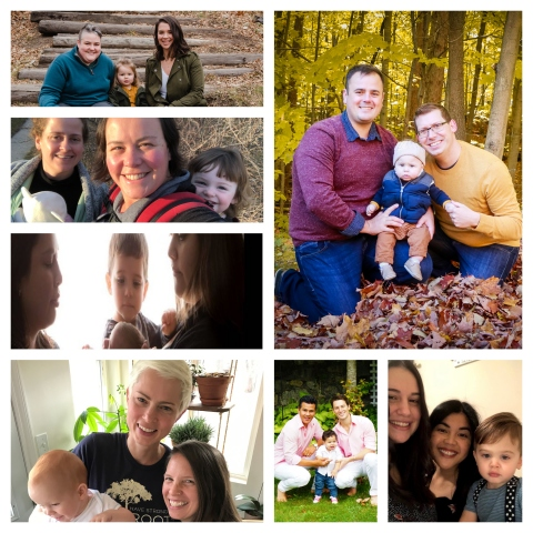These seven couples and their families are celebrating a significant victory in their fight to be recognized as parents. (Photo: Business Wire)