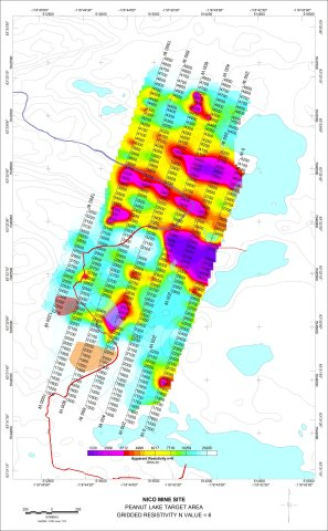 Fortune Minerals Limited Apparent Resistivity Map (Photo: Business Wire)