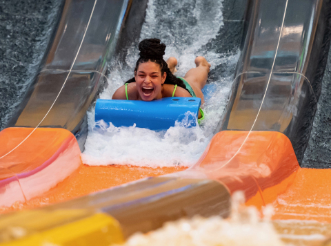 Grammy-nominated singer, actress and mom Jordin Sparks was one of the first guests at the new Kalahari Resorts in Round Rock, Texas. (Photo: Business Wire)