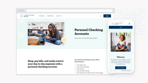Limestone Bank launches new website, LimestoneBank.com. (Photo: Business Wire)