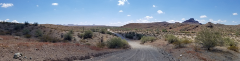 Lincoln Ranch Road through La Paz Rare Earth Project in Western Arizona (Photo: Western Rare Earths)
