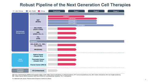 Legend Biotech's Development Pipeline (Graphic: Business Wire)