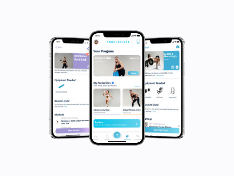 Tone & Sculpt – Health & Fitness App (Graphic: Business Wire)