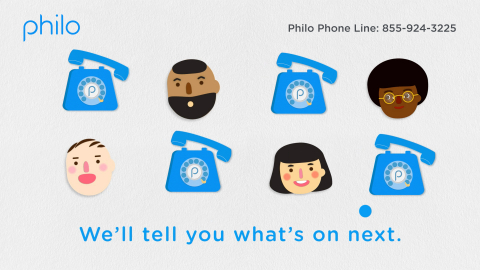 Philo launches a whimsical phone line with personalized TV recommendations for consumers. (Graphic: Business Wire)