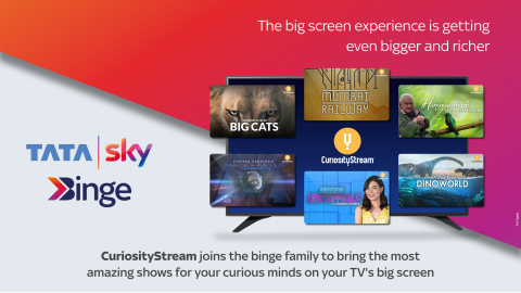 CuriosityStream Partners with Tata Sky, Launching November 17, 2020 (Photo: Business Wire)