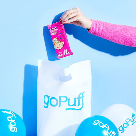 Every customer who orders from goPuff on November 17 will receive a free pack of Milk Bar Birthday Truffle Crumb Cakes or Chocolate Birthday Truffle Crumb Cakes with their order. (Photo: Business Wire)