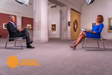 """Former President Barack Obama Talks With """"CBS THIS MORNING'S"""" Gayle King in His First Broadcast Television Interview About His New Memoir, A Promised Land. """"AN HOUR WITH PRESIDENT OBAMA"""" PREMIERES TUESDAY, NOVEMBER 17 AT 8 PM ET/PT ON BET & BET Her (Photo Credit: Lazarus Baptiste/CBS News)"""