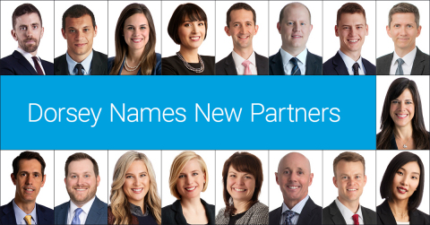 Dorsey announced today that it has named 17 new partners in the Firm, effective January 1, 2021. (Photo: Dorsey & Whitney LLP)