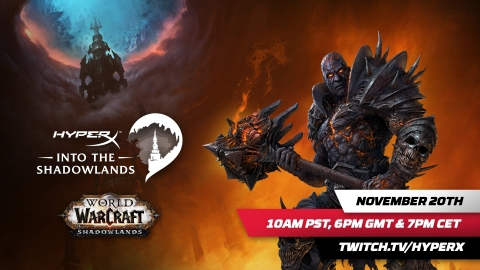 HyperX and Blizzard Entertainment Team Up to Celebrate the Launch of World of Warcraft®: Shadowlands (Graphic: Business Wire)