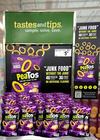 PeaTos Classic Onion Rings on display at Sam's Club in Langhorne, PA. (Photo: Business Wire)