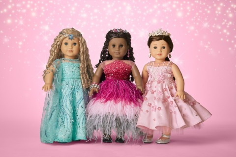 American Girl teamed up with Swarovski crystals to create three one-of-a-kind collector dolls. The dolls are up for auction starting today through November 25 on americangirl.com, with 100% of net proceeds to benefit First Responders Children's Foundation. (Photo: Business Wire)