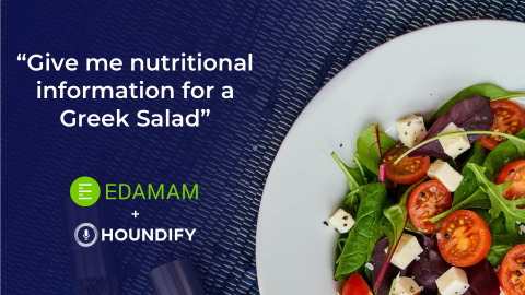 Houndify Partners With Edamam to Voice-Enable Extensive Database of Food Knowledge to Help Users Eat Better (Graphic: Business Wire)