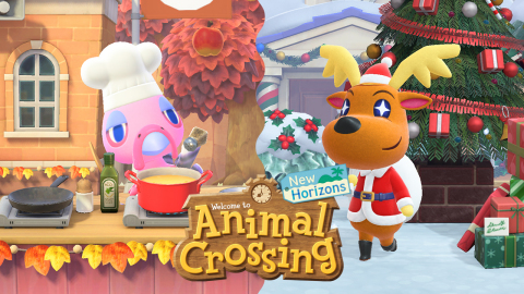 On Turkey Day, which will take place this year on Nov. 26, the first-class chef Franklin will arrive and host a gathering in the plaza. On Dec. 24, Jingle will pay a special visit to your island to spread holiday cheer for Toy Day! (Graphic: Business Wire)