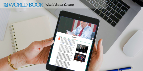 Example of a World Book Online election article (Photo: Business Wire)