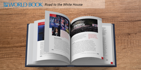 Page from World Book's special volume, Road to the White House (Photo: Business Wire)