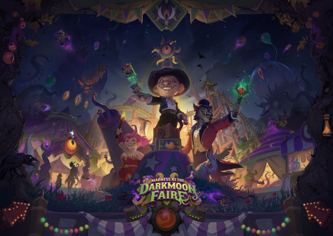 The Old Gods, who first came to Hearthstone in 2016's fan-favorite expansion Whispers of the Old Gods, return in Madness at the Darkmoon Faire. (Photo: Business Wire)
