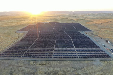 Ameresco and San Joaquin County's 5.3MW Solar Array Installation Completed on Landfill Site (Photo: Business Wire)
