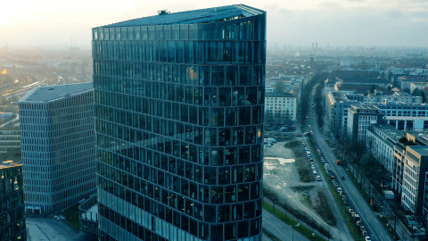 Samsung Semiconductor Europe at Bavaria Towers, Munich (Photo: Business Wire)