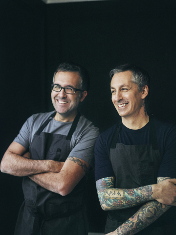 Chef brothers Chad (left) and Derek Sarno (right) bring their wildly successful Wicked Foods range of plant-based meals and snacks to the US. (Photo: Business Wire)