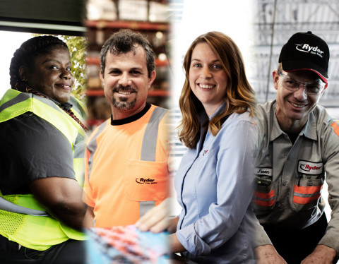 Ryder's drivers, technicians, service employees, rental counter agents, dispatchers, and warehouse employees are the backbone of Ryder's response to the pandemic and continue to work to keep the company strong, communities healthy, and the economy moving. (Photo: Business Wire)