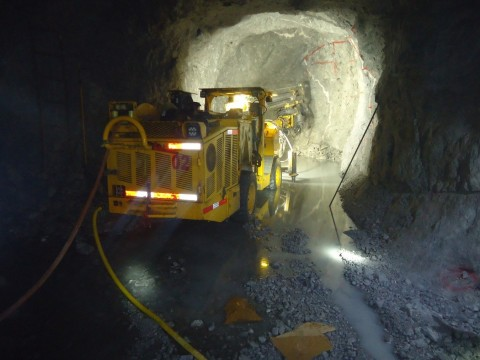 Photo 1 Jumbo in operation underground at Cusi Mine (Photo: Business Wire)
