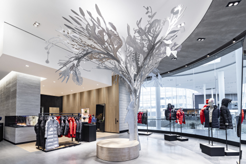 """Story Tree"" by Alex Fisher and Qavavau Manumi in Canada Goose's Yorkdale Shopping Centre Store (Photo: Business Wire)"