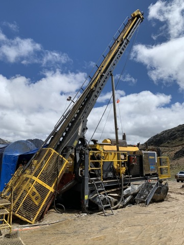Photo 2: Exploration Drilling at the Yauricocha Mine (Photo: Business Wire)