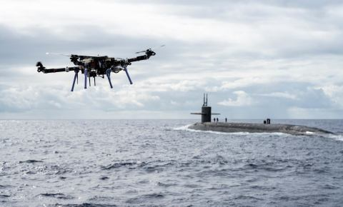 Skyfront Perimeter UAS resupplies submarine (Photo: Business Wire)