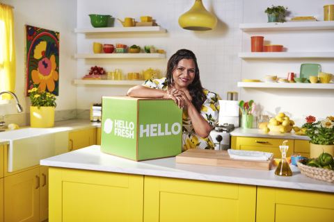 HelloFresh Teams up with Multi-Hyphenate Mindy Kaling to Promote the Ease, Convenience and Fun of Home Cooking (Photo: Business Wire)