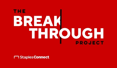 Staples Connect Announces The Breakthrough Project: February 2021 (Graphic: Business Wire)