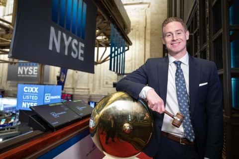 Kurt MacAlpine, CEO of CI Financial celebrates listing the company's common shares on the NYSE. (Photo: NYSE)