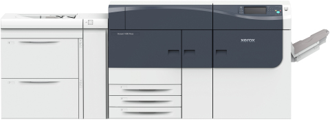 The XeroxVersant4100 Press, handles higher volumes and heavier production loads than the Versant 280, bringing more jobs in-house by reducing set-up time and printing on more media types than any competitor press. (Photo: Business Wire)