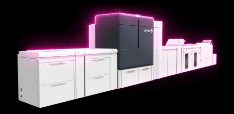 The Xerox Iridesse® Production Press is adding fluorescent pink specialty dry ink option to its existing Beyond CMYK palette of gold, silver, white and clear. (Photo: Business Wire)