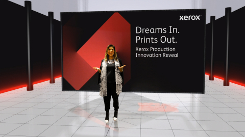 Innovation champion, Bindi Karia hosted the Xerox Production Innovation Reveal (Photo: Business Wire)