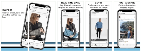 For Consumers, Fashwire's B2C shopping platform creates a compelling interactive experience by combining fun, immersive swipe voting with the ability to influence the designer instantly. (Graphic: Business Wire)