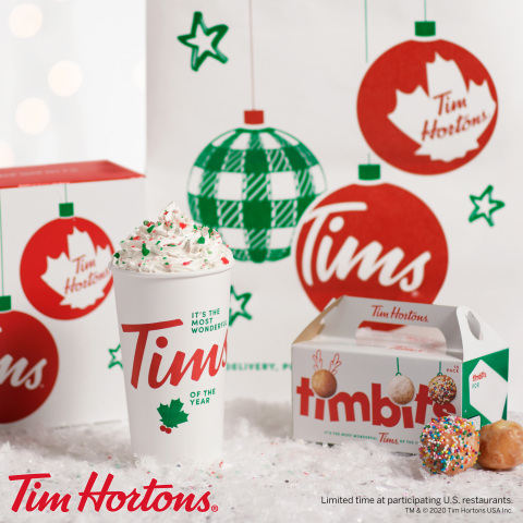 TIM HORTONS® RINGS IN THE HOLIDAY SEASON WITH NEW PRODUCT LINE-UP, AVAILABLE THROUGH ZERO DOLLAR DELIVERY, AS WELL AS SEASONAL CUPS AND FESTIVE MERCHANDISE (Photo: Business Wire)