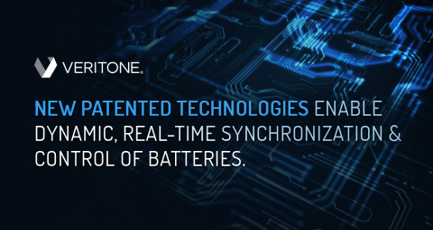Veritone received three new patents for its energy solutions, enabling industry-transforming, dynamic battery synchronization and control for optimal battery operation and longevity. (Graphic: Business Wire)