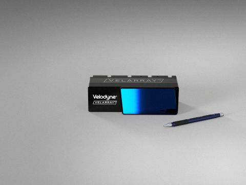 The Velodyne Lidar/Local Motors sales agreement positions Local Motors to incorporate additional Velodyne sensors, including the Velarray H800, into Olli designs so the company can continue to optimize the perception system of the autonomous vehicle. (Photo: Velodyne Lidar, Inc.)