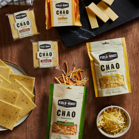 Field Roast's Chao Creamery cheese varieties are now available at more than 18,000 retail locations nationwide, including Walmart, Meijer, HEB, Safeway and Ahold. (Photo: Business Wire)