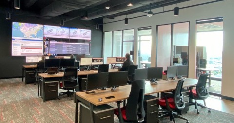 Command room of BCS Tactical Operations Center (Photo: Business Wire)