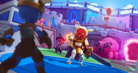 Super Battle League by Lightfox Games is a mobile 3v3 real-time mixed PvE and PvP game where two teams race to see who can beat the boss first. (Graphic: Business Wire)
