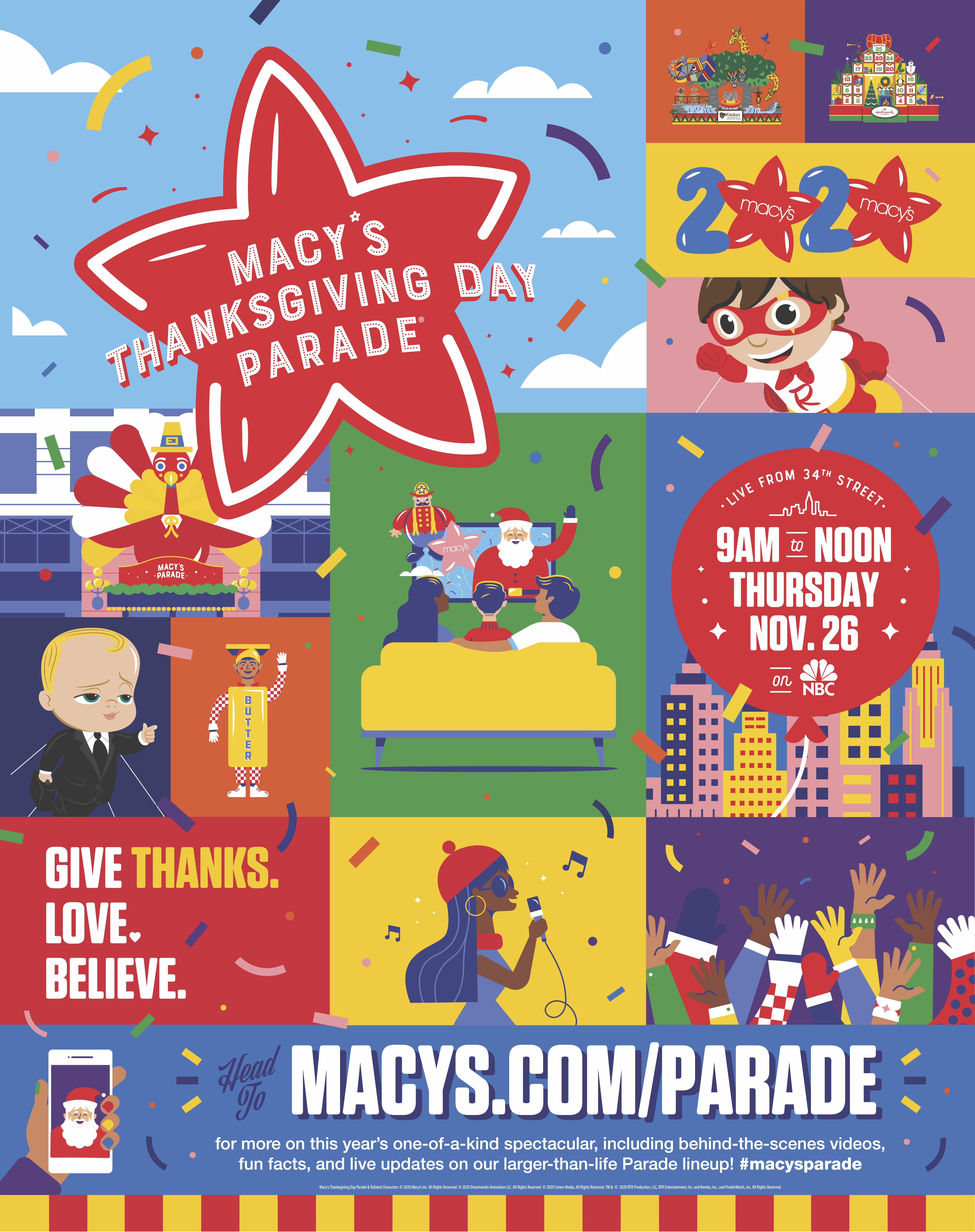 Magic On 34th Street The World Famous Macy S Thanksgiving Day Parade Kicks Off The Holiday Season For Millions Of Television Viewers Watching Safely At Home Business Wire