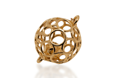This delicate and complex jewelry ornament, designed by luxury goods manufacturer E.A.C. of France, was 3D printed on the Shop System in steel, and subsequently gold-plated. This one-of-a-kind piece could not be produced any other way. (Photo: Business Wire)