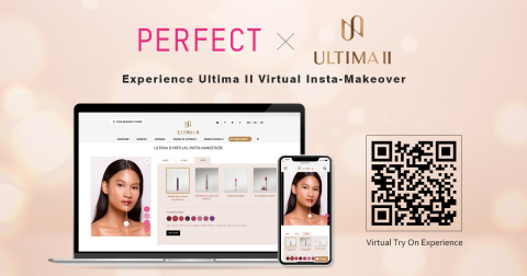 Perfect Corp. and ULTIMA II launch hyper-realistic AR & AI virtual Insta-Makeover on the brand's website (Photo: Business Wire)